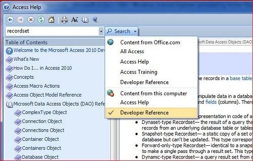 Error opening a recordset - Microsoft Access / VBA