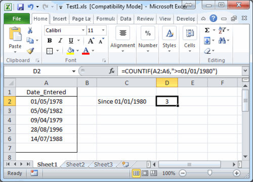 How To Use The Countif Countifs And Sumproduct Worksheet