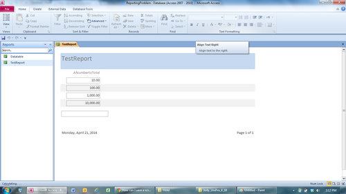 Microsoft report viewer page size
