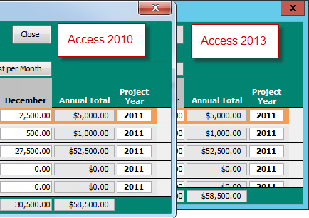 how to create a continuous form in access 2013