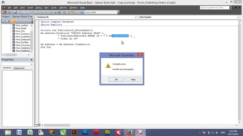 Compile Error! Invalid use of property. (Access/VBA Error ...
