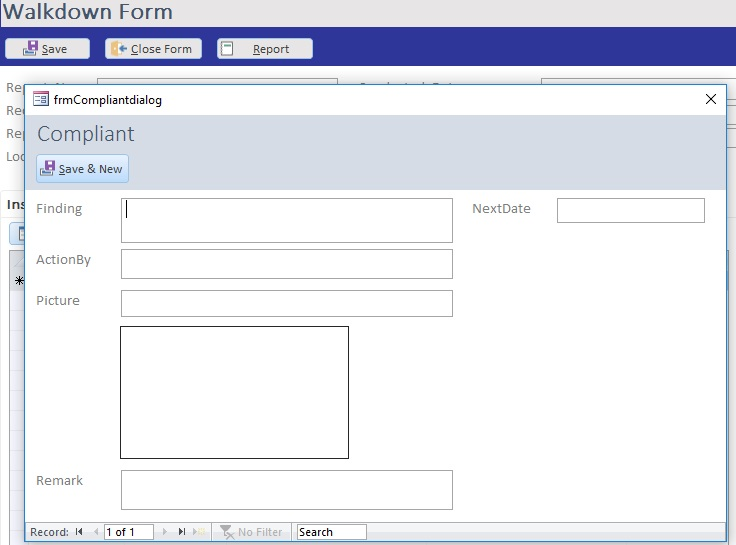 How to get the subform to refresh after entering data on a